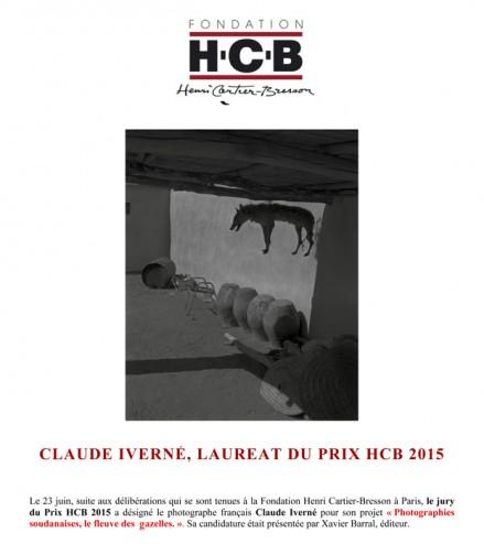 Lauréat Prix HCB 2015